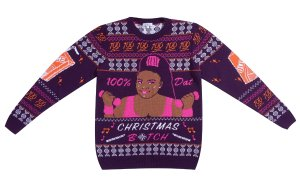 lizzo dat christmas btch knitted