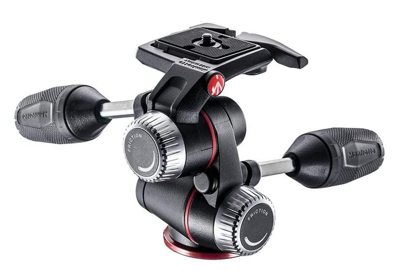 manfrotto three way head camera accessories