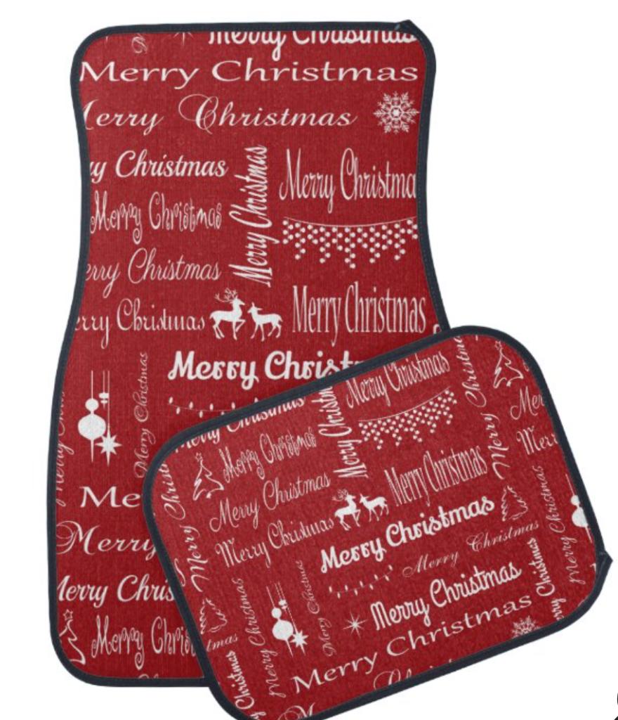 Merry Christmas Car Floor Mat