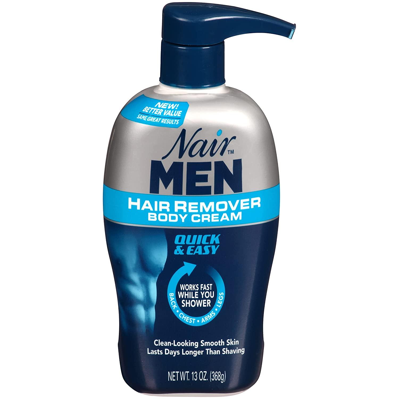 Nair Men Hair Remover Body Cream; how to manscape