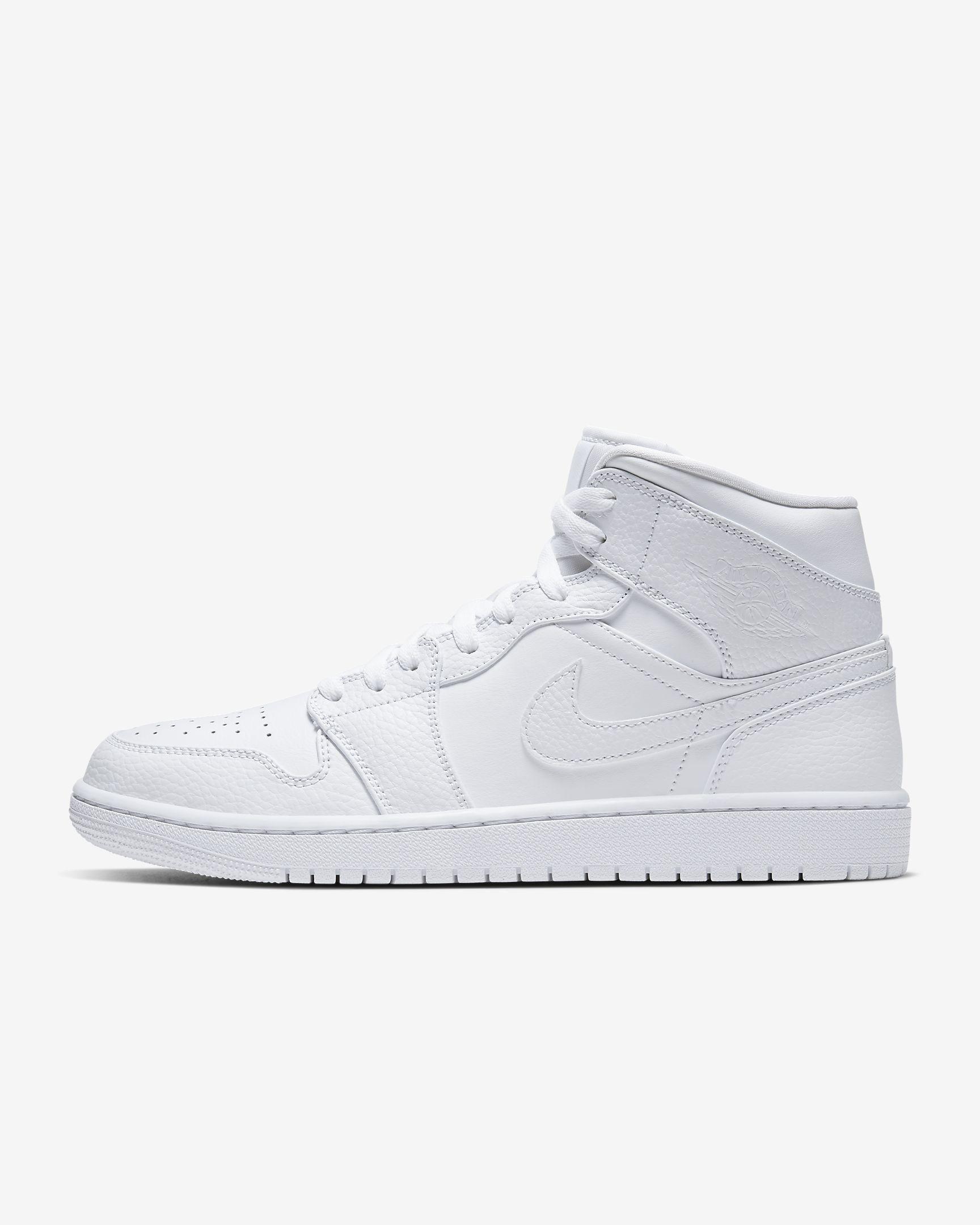 Nike Air Jordan 1 Mid in white