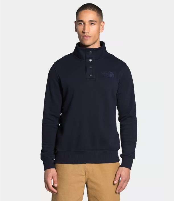 North-Face-Mens-Snap-Fleece-Pullover