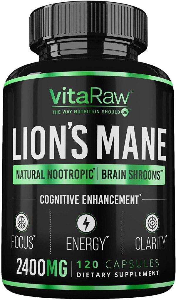 Organic Lions Mane Mushroom Capsules by VitaRaw