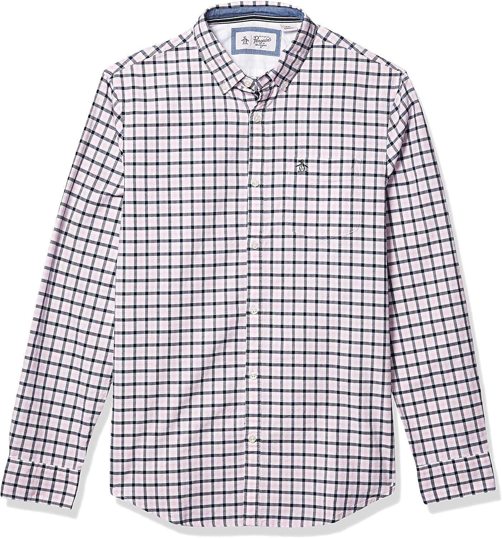 Original-Penguin-Mens-Tattersall-Button-Down-Shirt