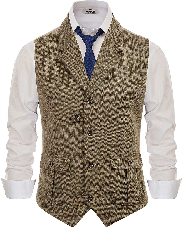 PJ Paul Jones mens tweed vest cottagecore