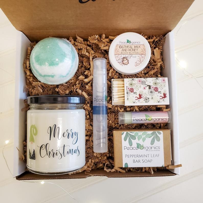 Peace Organics Personalized Vegan Skin Care Spa Gift Box