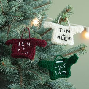 personalized christmas ornaments holiday sweater