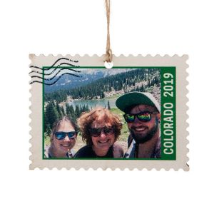 personalized christmas ornaments personalized photo stamp