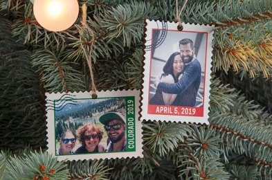 these personalized christmas ornaments make great gifts for friends and family