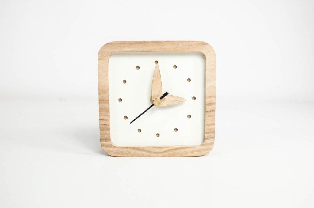 Promi Design Small Wooden Desk Clock