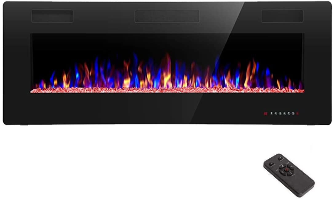 electric fireplace - R.W. Flame 50-inch wall-mounted electric fireplace with remote