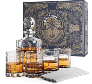 the best whiskey gifts: regal trunk and co decanter set