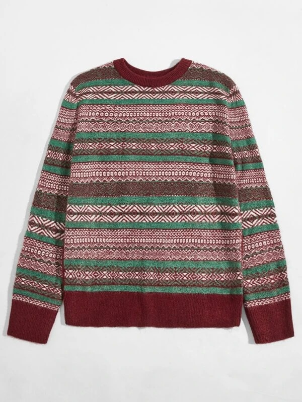 SHEIN Men's folkloric sweater cottagecore