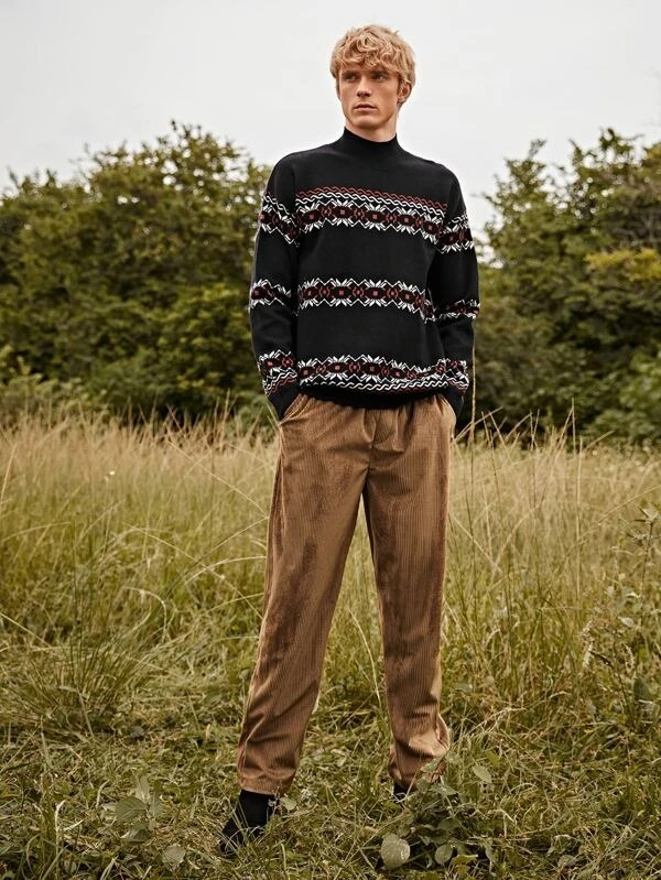Shein cottagecore for men cord pants