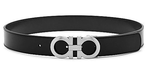 Men's Designer Belts: Salvatore Ferragamo Large Double Gancio Reversible Belt