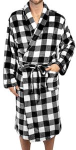 Pavilia Mens Plush Fleece Robe