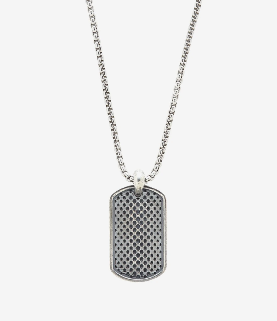 sterling silver dog tag necklace for men