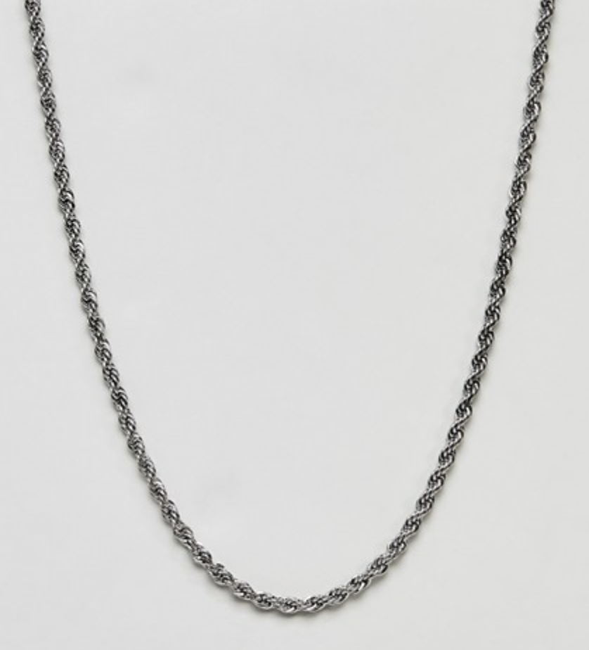 silver rope chain for men