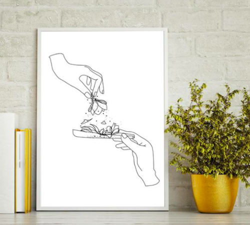 stoner gifts- Weed Wall Art Home Decor