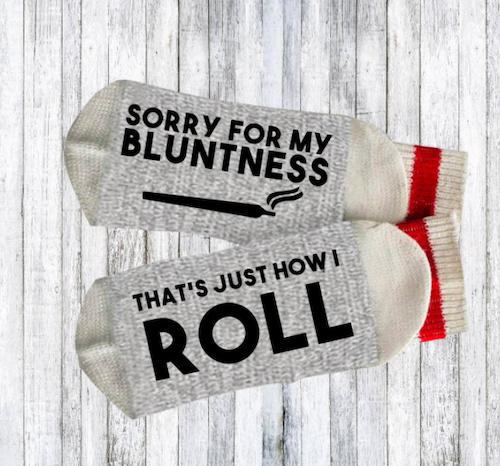cannabis pun socks, best stoner gifts