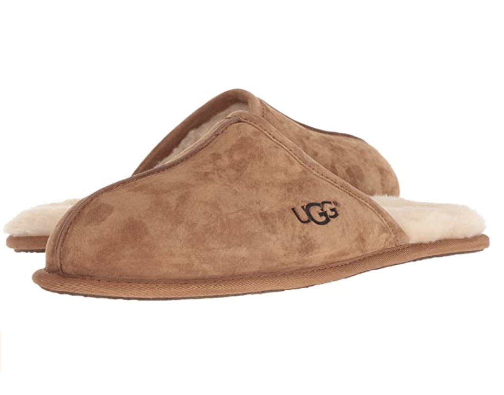 best men's house slippers: brown suede UGG Men's Scuff Slipper