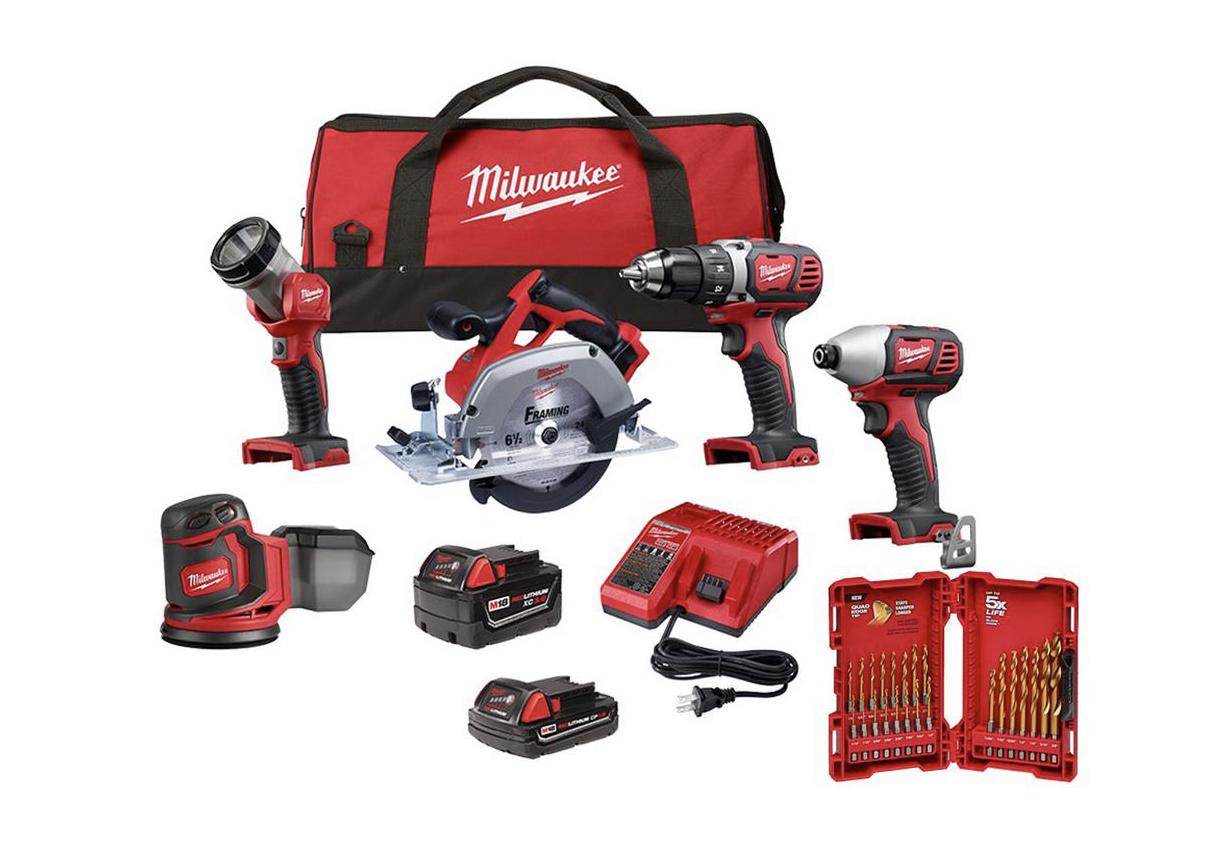 Milwaukee 5-piece drill combo kit