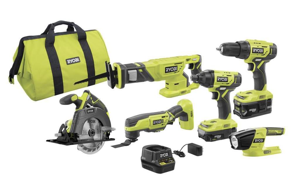 ryobi 6-tool power tool combo kit