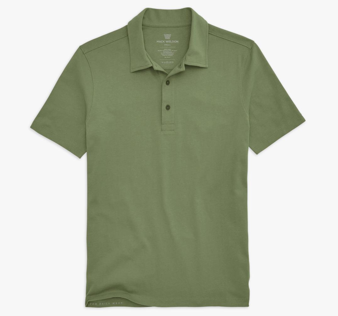 Mack Weldon DRYKNIT T-Shirt Polo, best golf shirts for men