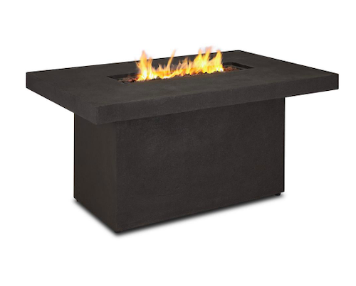 Real Flame Ventura Rectangle Fiber-Concrete Propane Fire Pit with Natural Gas Conversion Kit