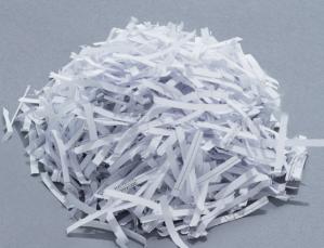 shredded paper from paper shredder