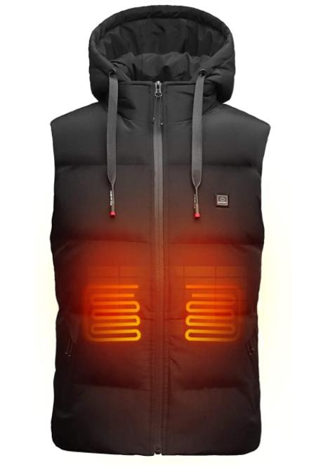heated vest black quilted vest best vest