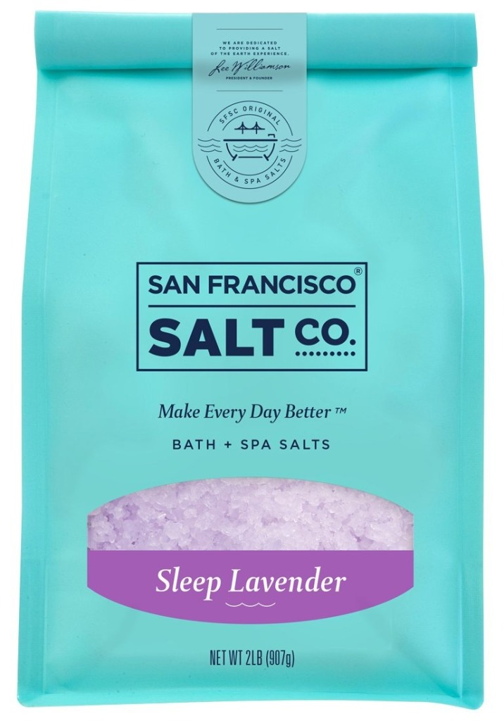 Sleep Lavender Bath Salts by San Francisco Salt Company, best bath salts