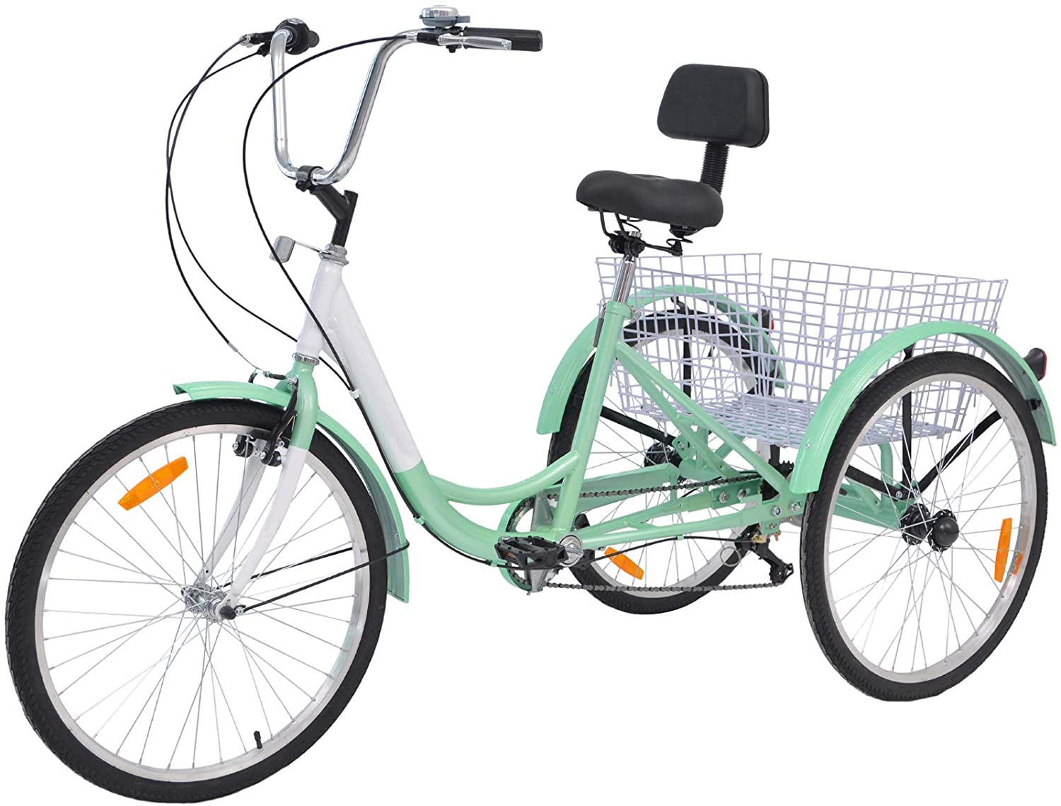 Slsy 7-speed adult tricycle in mint green, best adult tricycle