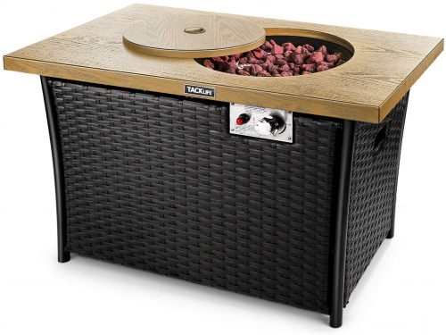 TACKLIFE Fire Table Propane Fire Pit
