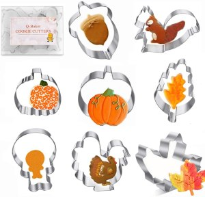 Q-BAKER Thanksgiving cookie cutters, best cookie cutters