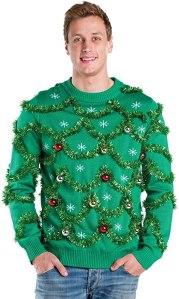 tipsy elves mens gaudy garland sweater