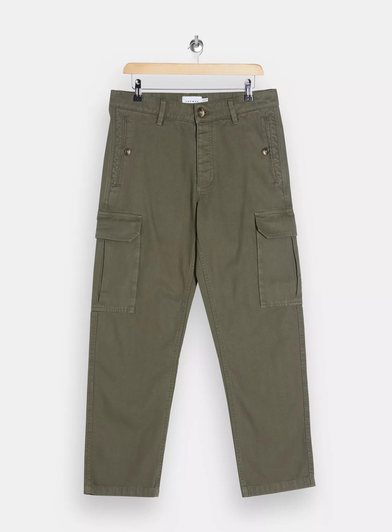 Topman Cropped Wide Leg Cargo Pants
