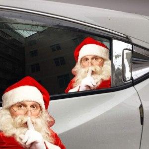 ukkuer santa in car window