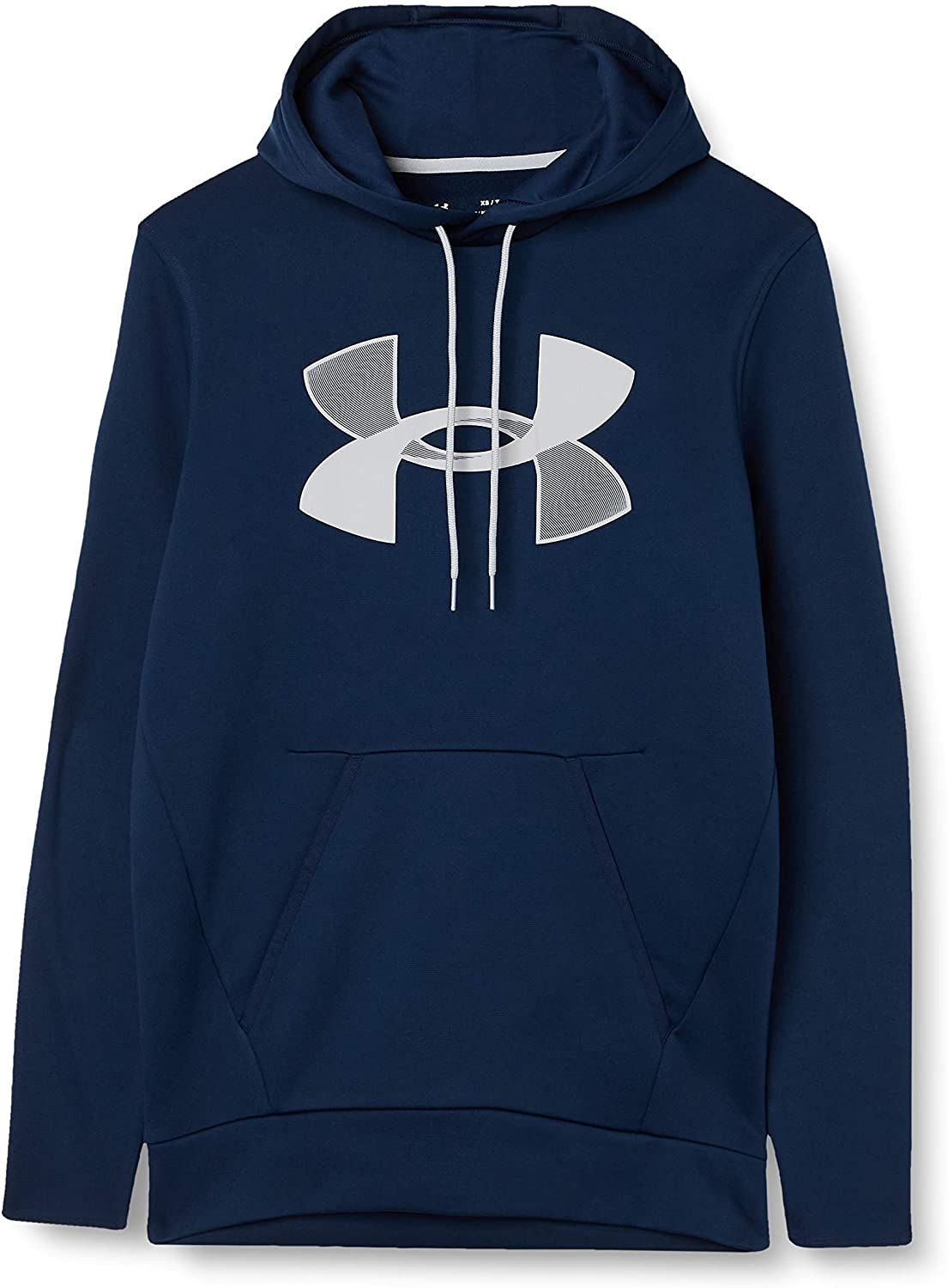 Under Armour Men's Fleece Big Logo Hoodie in navy blue