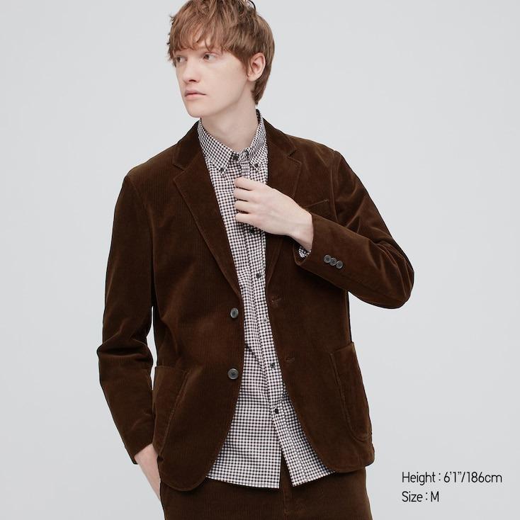 Uniqlo brown corduroy blazer men