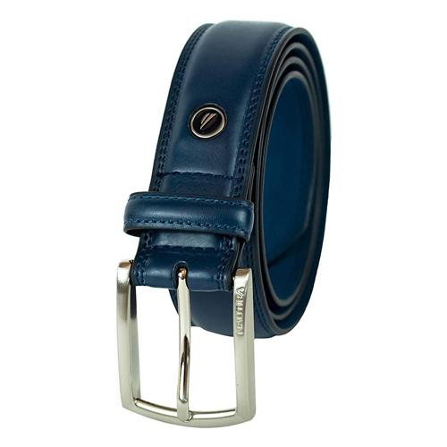 navy leather belt for men