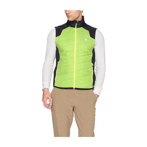 Spyder green and black glissade insulator vest