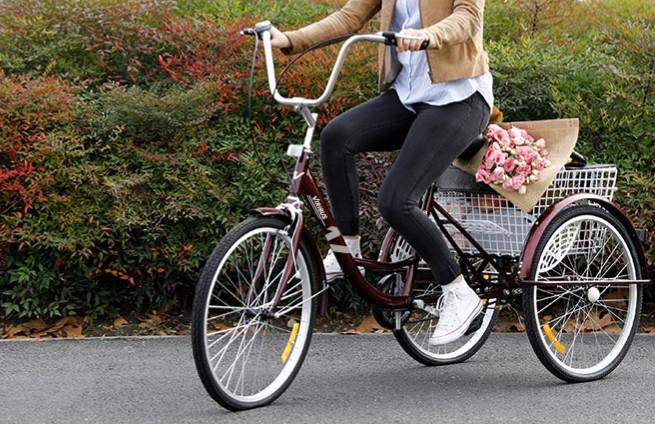 Woman rides Viribus adult tricycle