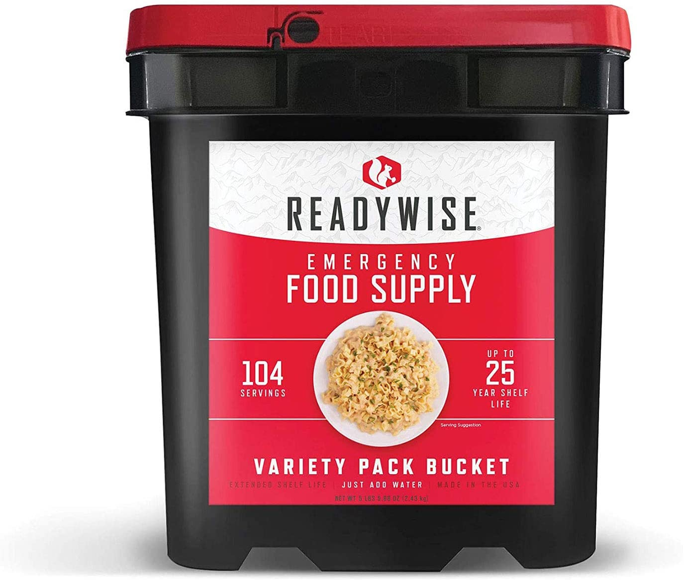 A Bucket of Wise Company Emergency Food Supply (variety pack), survival food kit