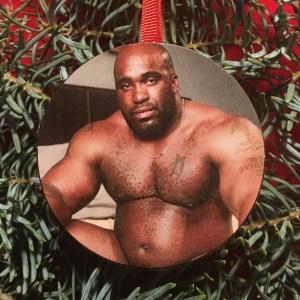 The Sweater King Barry Wood Meme Christmas Tree Ornament
