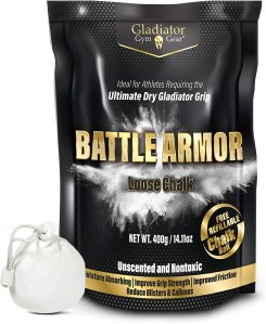 battle armor gym chalk, weightlifting chalk