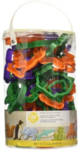 Wilton animal cookie cutters 50-piece set, cookie cutters