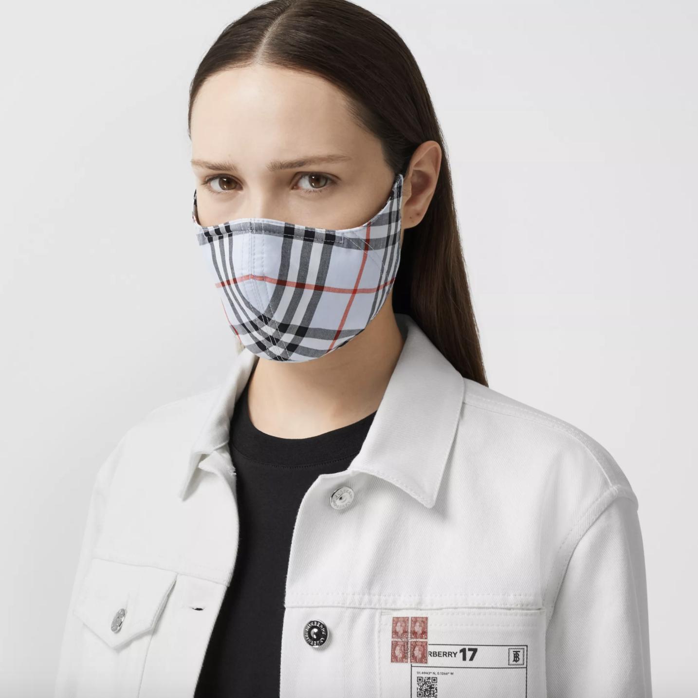 designer facemasks - burberry face masks