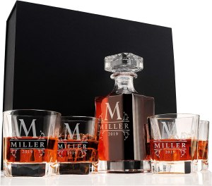 whiskey decanter set, best personalized gifts, personalized gifts