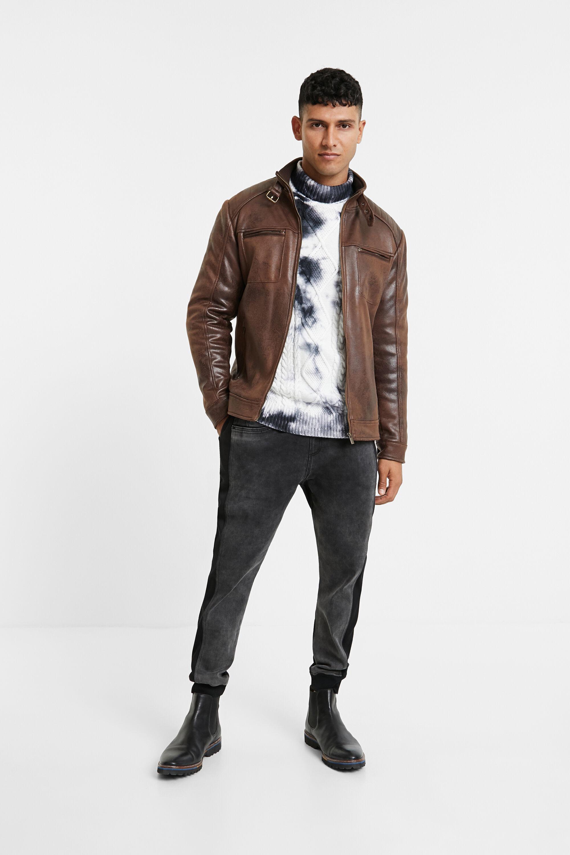 Desigual Leather Effect Jacket
